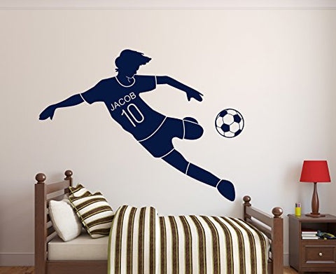 Custom Soccer Name Wall Decal