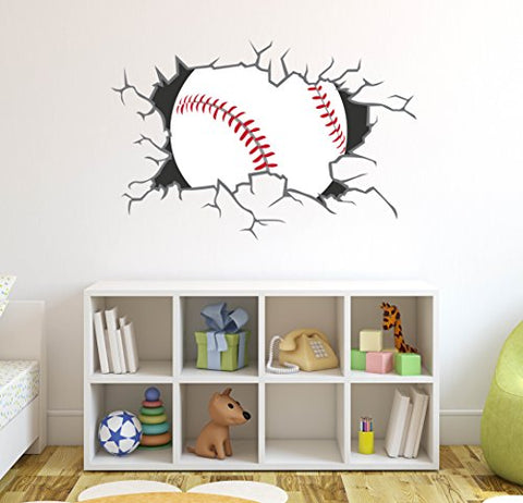 West Mountain Baseball Breaking Wall Decal Home Decor Art Vinyl Sticker