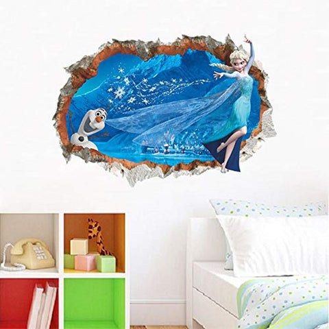 Frozen Anime Movie Mural Art Wall Decal