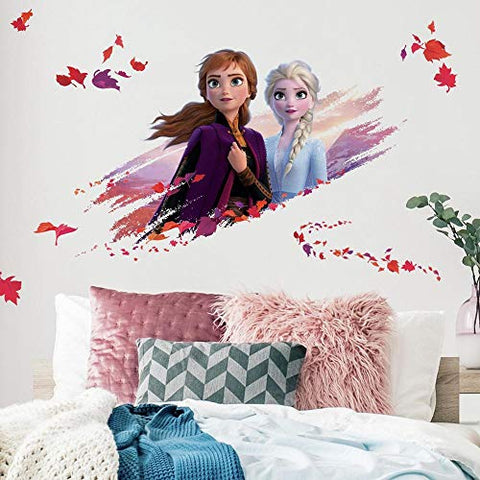 Disney Frozen 2 Elsa And Anna Giant Peel And Stick Wall Decals