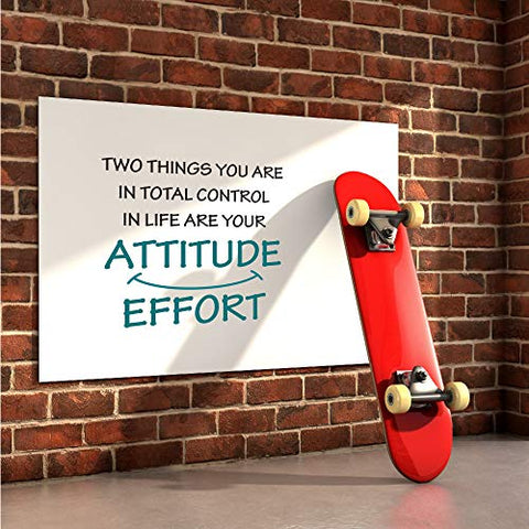 GULIGULI Two Things You are in Total Control in Life Attitude Effort Inspirational Quotes Wall Decals Vinyl Stickers for Bedroom Living Room School Office Home Decor