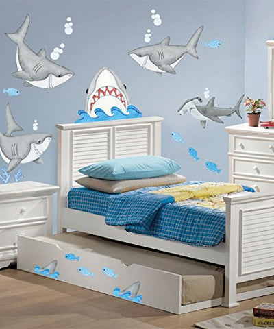 Borders Unlimited Fish'n Sharks Super Jumbo Applique, Multicolor