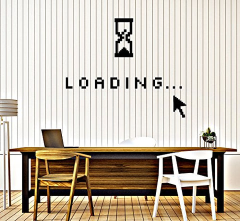 Vinyl Wall Decal Computer Art Loading Mouse Geek Decor Stickers (386ig) Black