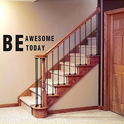 Be Awesome Today Inspirational Wall Decals Quotes,Word Wall Sticker Quotes,Motivational Wall Decal,Family Inspirational Wall Art Sticker (Black)