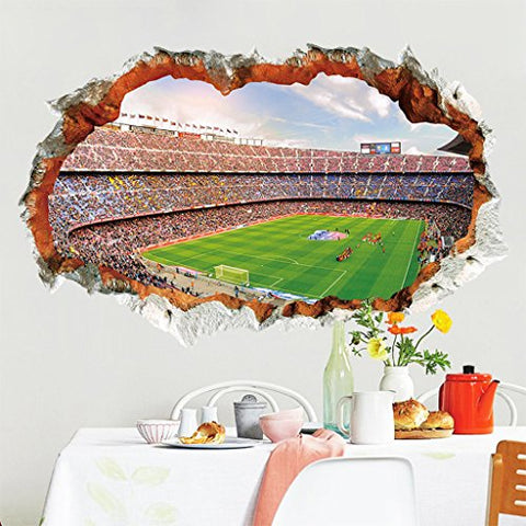 2018 World Cup Series Soccer 4D Removable Wall Decal