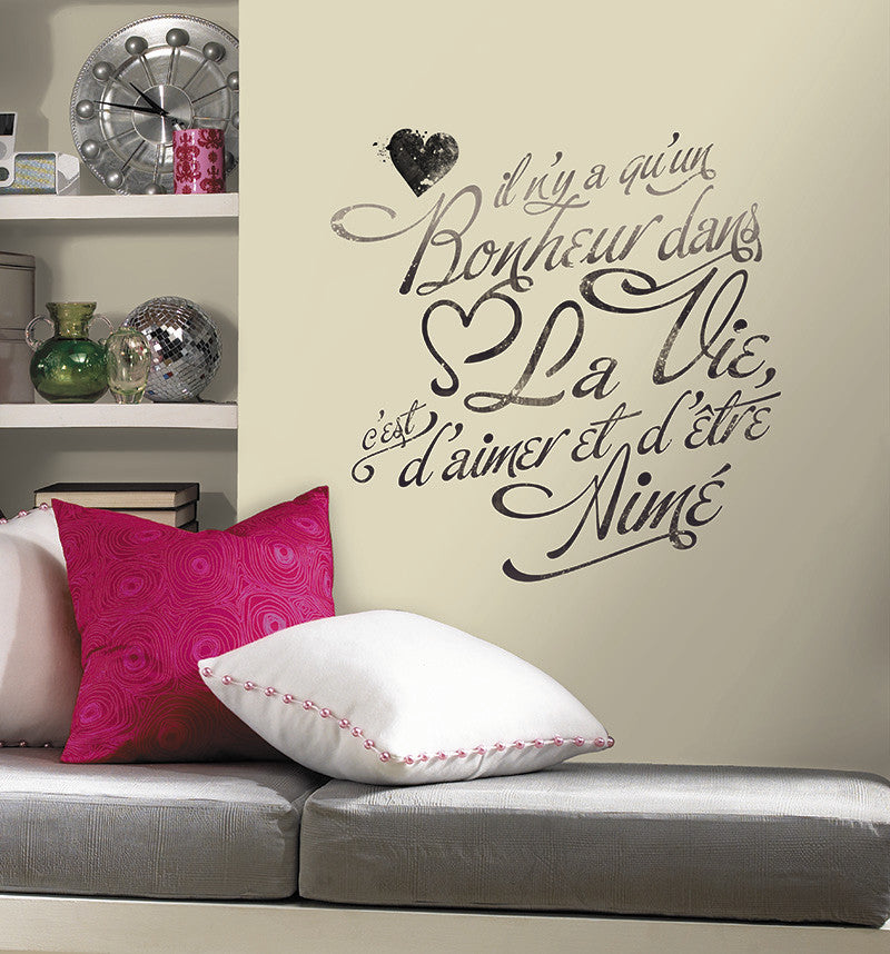 Bonheur (FRENCH) Peel And Stick Wall Decals Image Part 57
