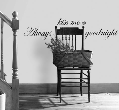 Always Kiss Me Goodnight Peel & Stick Single Sheet  image