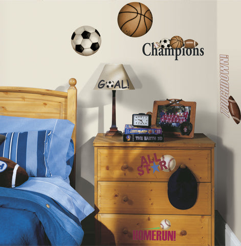 Play Ball Peel & Stick Wall Decals image