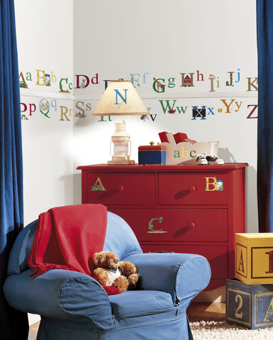 Alphabet Peel & Stick Wall Decals image
