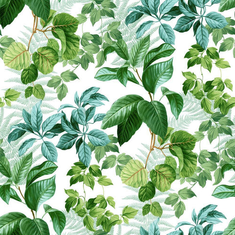 RAINFOREST GREEN LEAVES PEEL & STICK WALLPAPER