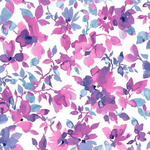 BRIGHT WATERCOLOR FLORAL PEEL & STICK WALLPAPER