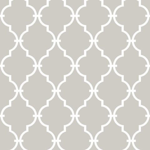 BEIGE MODERN TRELLIS PEEL & STICK WALLPAPER
