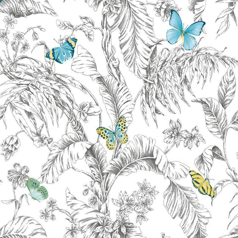 BUTTERFLY SKETCH PEEL & STICK WALLPAPER