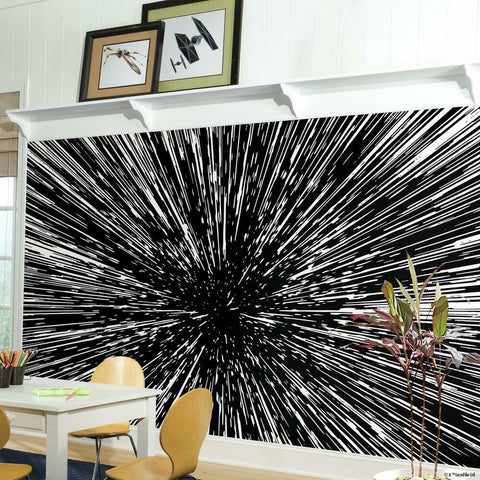 HYPER SPACE PEEL & STICK MURAL
