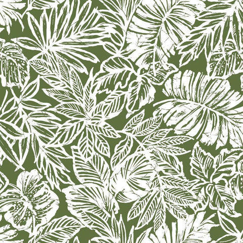 BATIK TROPICAL LEAF PEEL & STICK WALLPAPER