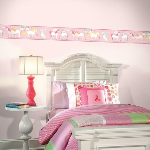 MAGICAL UNICORN PEEL & STICK WALLPAPER BORDER