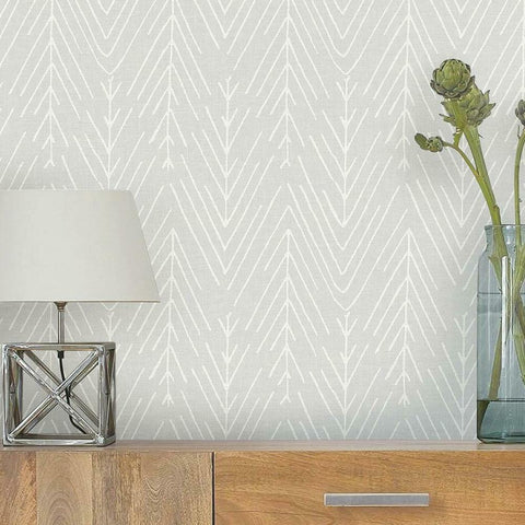 TWIG HYGGE HERRINGBONE PEEL & STICK WALLPAPER