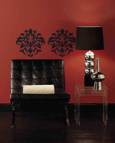 Damask (Black) Peel & Stick Wall Decals image
