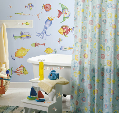 Sea Creatures Peel & Stick Wall Decals                 image
