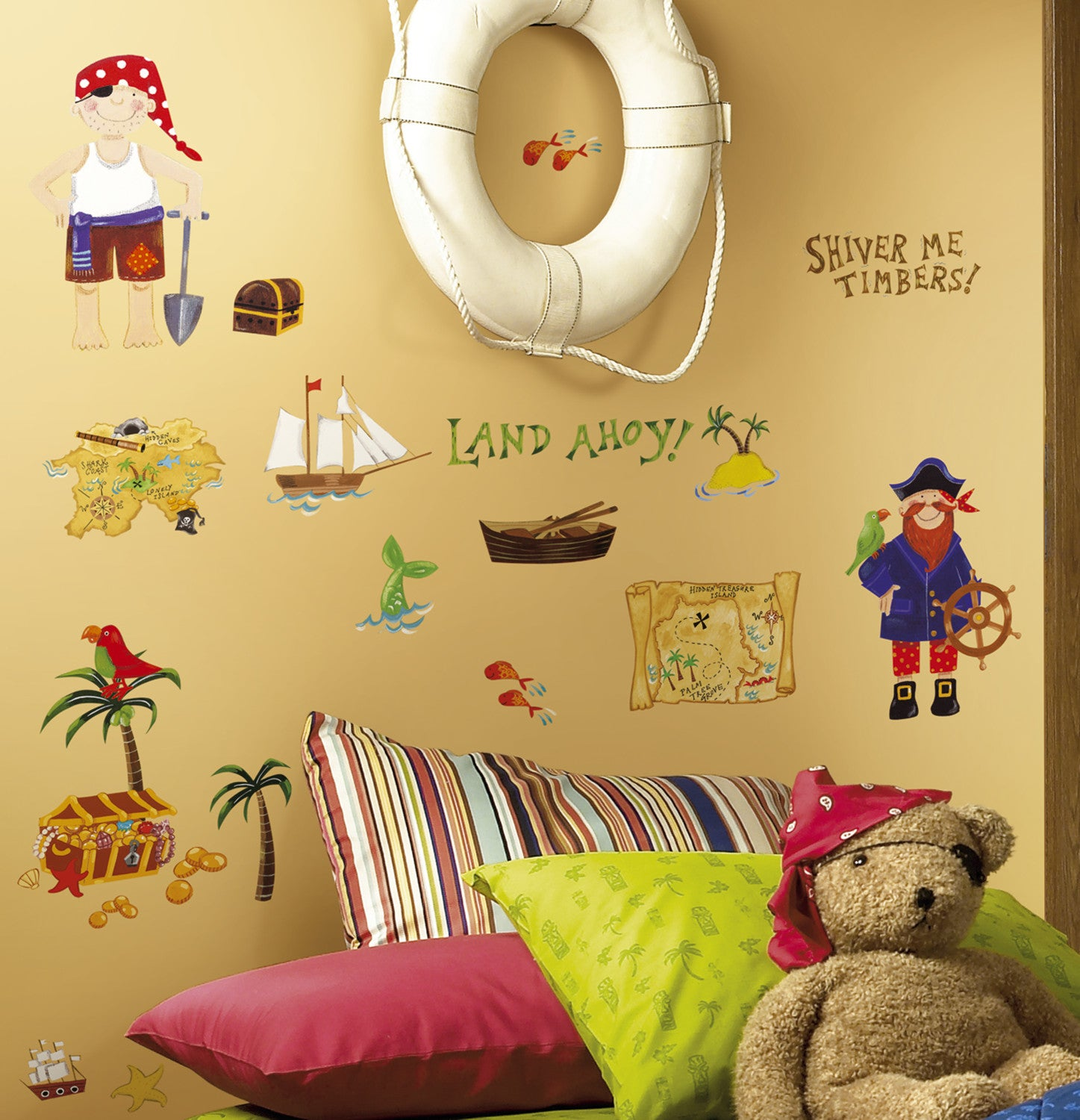 Treasure Hunt Peel and Stick Wall Decals Stickers