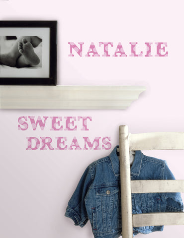Express Yourself Pink Peel & Stick Wall Decals image