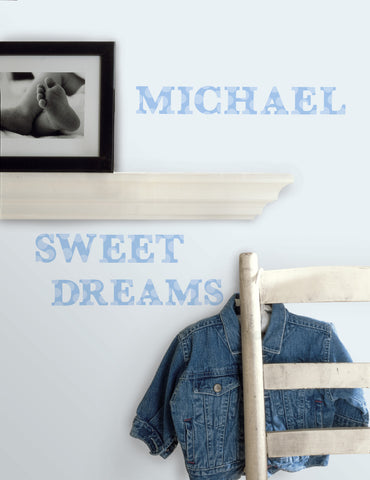 Express Yourself Blue Peel & Stick Wall Decals image