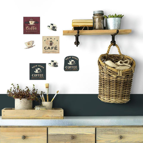 COFFEE HOUSE PEEL & STICK WALL DECALS