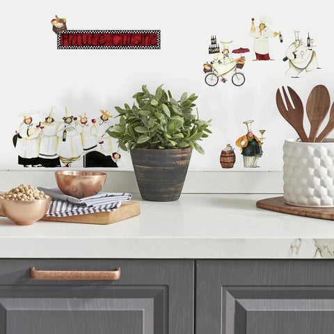 CHEFS PEEL & STICK WALL DECALS