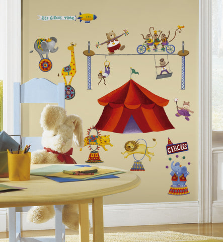 Big Top Circus Peel & Stick Wall Decals image