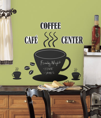 Coffee Cup Chalkboard Peel & Stick Wall Decals image