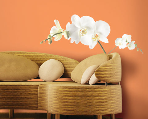 White Orchid Peel & Stick Wall Decals image