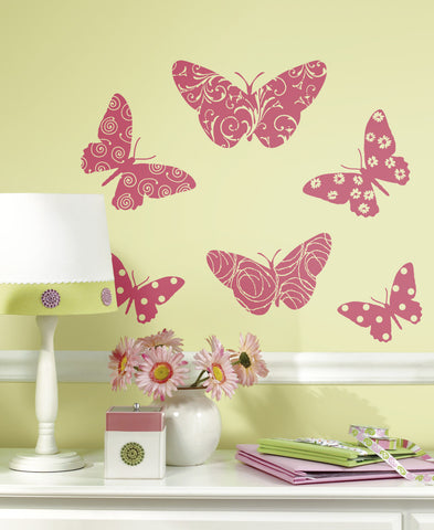 Flocked Butterfly Peel & Stick Wall Decals image
