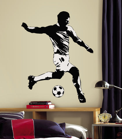 Soccer Player Peel & Stick Giant Wall Decals image