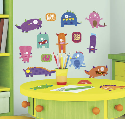 Monsters Peel & Stick Wall Decals image