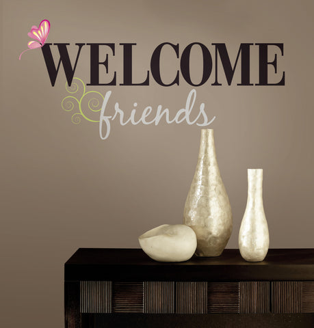 Welcome Friends Peel & Stick Wall Decals image