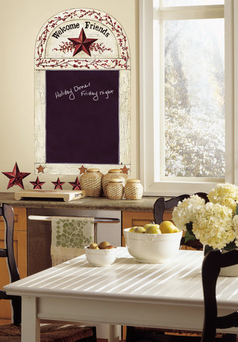 Country Chalkboard Peel & Stick Wall Decals image