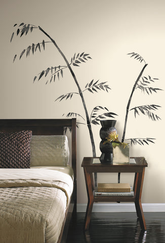 Painted Bamboo Peel & Stick Giant Wall Decal image