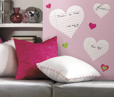 Hearts  Dry Erase Peel & Stick Wall Decals image