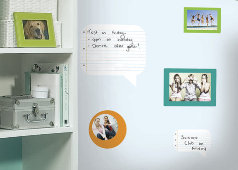Notepad Dry Erase Peel & Stick Wall Decals - Blue, Orange, Green image