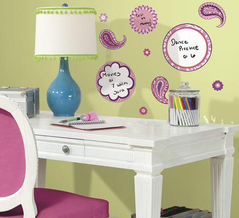 Paisley Dry Erase Peel & Stick Wall Decals image