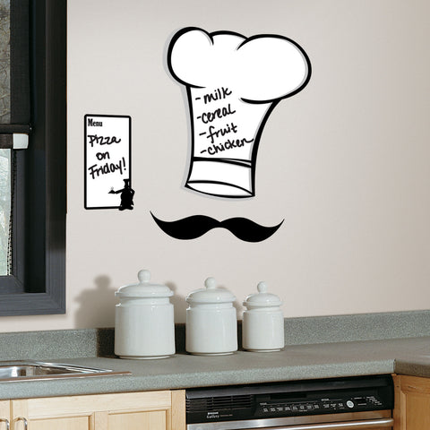 Chef's Hat Dry Erase Peel & Stick Giant Wall Decals image