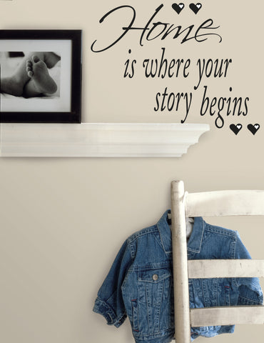 Home is Where Your Story Begins Peel & Stick Quotable image