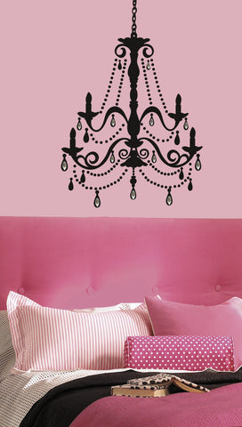 Chandelier w/Gems Peel & Stick Giant Wall Decal image