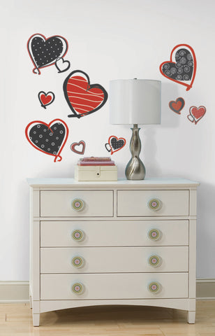 Mod Heart Peel & Stick Wall Decals image