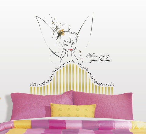 Disney Fairies - Tinkerbell Headboard Peel & Stick Giant Wall Decal