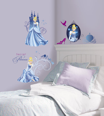 Disney Princess - Cinderella Glamour Peel & Stick Wall Decals