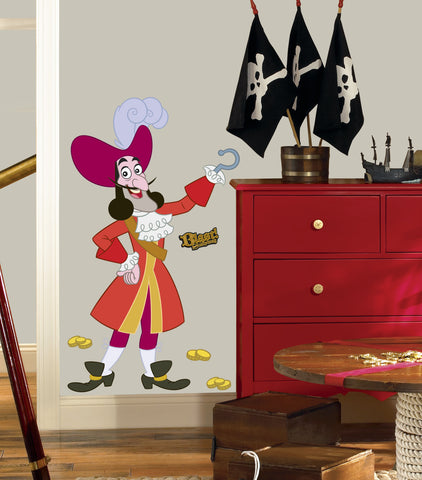 Jake & the Never Land Pirates Captain Hook Peel & Stick Giant Wall Decal