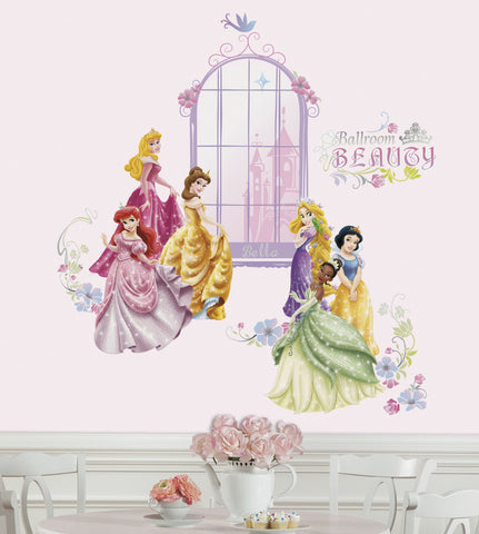 Disney Princess Collage Peel U0026 Stick Wall Decals W/Personalization Part 68