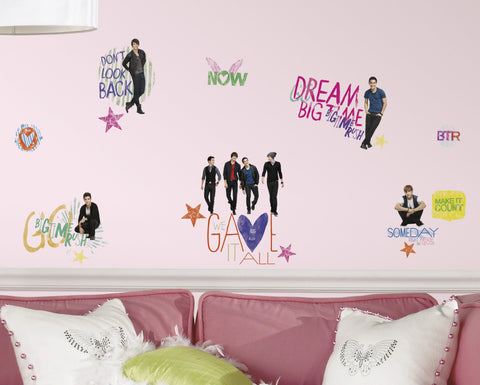 Big Time Rush Peel & Stick Wall Decals