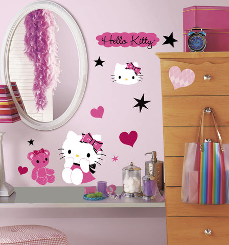 Hello Kitty   Couture Peel U0026 Stick Wall Decals